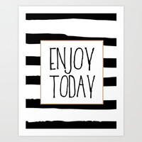ENJOY TODAY SIGN, Motivational Art,Motivational Quote,Office Wall Art,Relax Poster,Buddha Art,Fashio Art Print by Printable Aleks