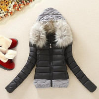 New Cotton Padded Clothes Woman Down Cotton Coat Collars Self-cultivation Cotton = 1930078724
