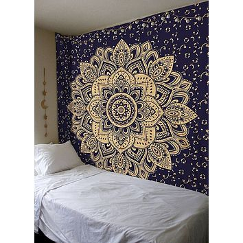 Mandala Tapestry Wall Hanging Home Decor Multifunctional Blanket Beach Towel Yoga Tapestrys Dust Cover Bohemian Tapestry Bedroom