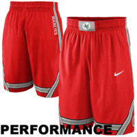 Nike Ohio State Buckeyes Authentic Basketball Performance Shorts - Scarlet