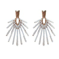 Sunburst Pearl Drops Earrings