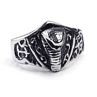 Vintage Punk Snake Titanium Steel Men's Statement Ring