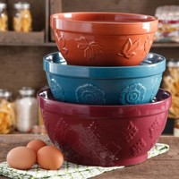 The Pioneer Woman Cornucopia Mixing Bowl Set, 3-Piece - Walmart.com