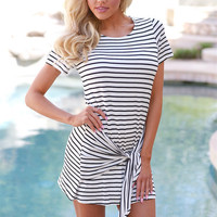 Stay The Course Striped Dress