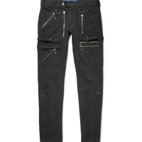 Blackmeans - Skinny-Fit Zip-Detailed Cotton-Canvas Trousers