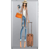 Travel girl Phone Case Cover for Apple iPhone 7 7 Plus 5S 5 SE 6 6S 6 Plus 6S Plus + Nice gift box! LJ161005-005
