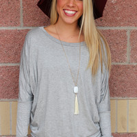Solid long sleeve dolman- more colors
