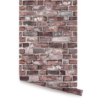 Vintage Brick Self Adhesive Fabric Wallpaper Repositionable