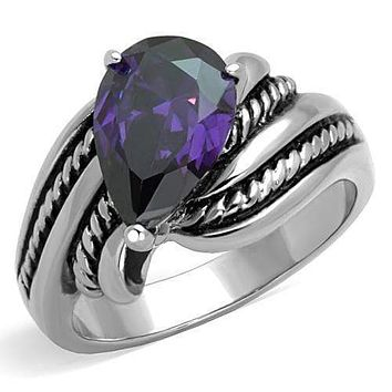 Cheap Wedding Rings TK1515 Stainless Steel Ring with AAA Grade CZ
