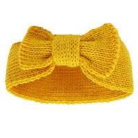 Baby Toddlers Infant Girls Kint Bow Headband Knot Hair Warm Wrap