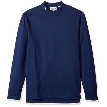 Lacoste Mens Long Sleevemouline Jacquard Jersey Cotton Stretch Tee 4/M