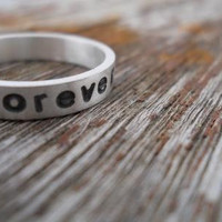 hand stamped always & forever ring