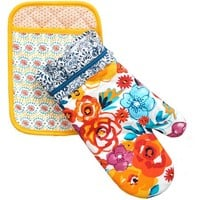 The Pioneer Woman Flea Market Pot Holder/Oven Mitt Set - Walmart.com