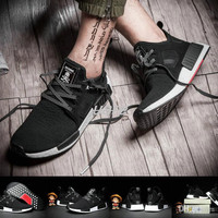 Adidas NMD Mastermind Japan x NMD XR1 FC MMJ Black White Men Women Running Shoes Sneakers Fashion NMDs Runner Primeknit Boost Sports Shoes