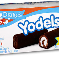 Drake's by Hostess Yodels Frosted Creme Filled Devil's Cakes 11 Oz Pack of 6 x10 count