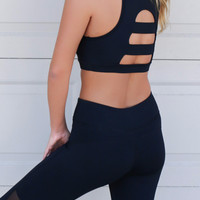 Black Keep It Cool Sports Bra