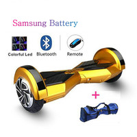 hoverboard self balancing scooter 8 inches two wheels hover board skateboard unicycle with bluetooth speaker samsung battery N2