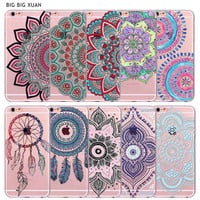 Case For iPhone 6 6S 5 5S SE 6Plus 6sPlus 4 4S 5C Colorful Floral Paisley Flower Mandala Henna Clear Silicone Soft Cover Fundas