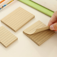 80 Pages Kraft Paper Memo Pad Kawaii Stationery Office Supplies Post It Notepad Diy School Stationery Office Desk Decoration