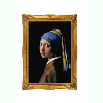 Girl with a Pearl Earring Cross Stitch Pattern
