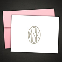 Personalized Stationery Monogram and Colorful Envelope