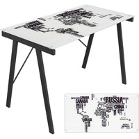 Graphic Top Exponent Desk, World Map
