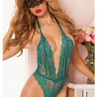 Lingerie Sleepwear Lace Teddy Bodysuit