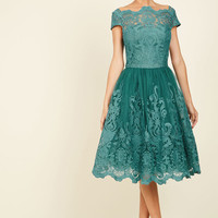 Exquisite Elegance Lace Dress in Lake in 26