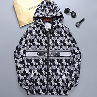 Christian Dior CD New Fashion Letter Print Top Zipper Hoodie Personalized Jacket