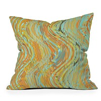 Lisa Argyropoulos Rustic Waves Throw Pillow