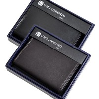 Umo Lorenzo Men's Tri-Fold Hand-Crafted Genuine Leather Wallet