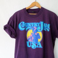 Vintage 1993 Country Jam USA Dolly Parton Kenny Rodgers Tshirt