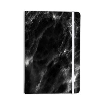 """Chelsea Victoria """"Black Marble"""" Modern White Everything Notebook"""