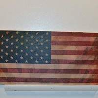 Wooden Wall Sign 10x5 - C010 - Flag