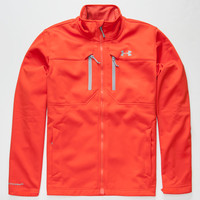 Under Armour Coldgear Infrared Softershell Mens Jacket Red  In Sizes