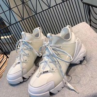 Dior Women's Leather Fashion Sneakers Shoes-DCCK