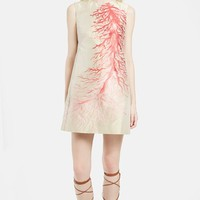 Women's Valentino Painted Coral Shift Dress