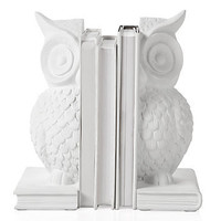 Z Gallerie - White Owl Bookends