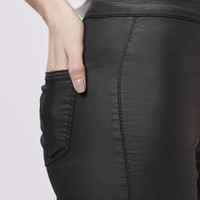 MOTO Black Coated Joni Jeans - Topshop