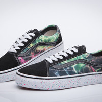 Trendsetter VANS Galaxy Print Canvas Flats Shoes Sneakers Sport Shoes