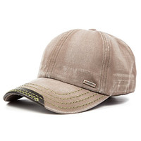 Classic Low Profile Vintage Washed Cotton Twill Cap (Brown)