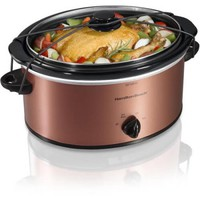 Hamilton Beach 5-Quart Portable Slow Cooker, Copper - Walmart.com