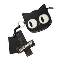 Eye of the Beholder Black Cat Coin Purse by Banned