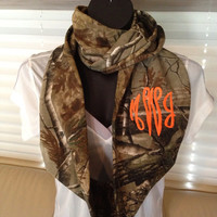 Monogrammed Realtree Camouflage Infinity Scarf