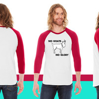 No Goats No Glory Men Who Stare At Goats American Apparel Unisex 3/4 Sleeve T-Shirt