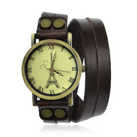 Tower Print Double Wrap Watch on Luulla