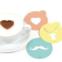 Coffee Stencil Set | Moose Heart Mustache Designs