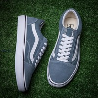 Vans/Old Skool Grey blue low back casual shoes
