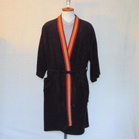 Vintage Deadstock 70s COMFORTABLE STYLISH Men Women Classic Color Bedtime Shower 1 Size Fits All ROBE