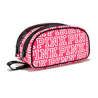 Double Zip Beauty Bag - PINK - Victoria's Secret